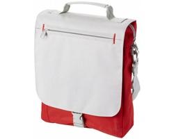 Konferenční taška KINE se zapínáním na přezku - červená / světle šedá