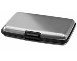 Hliníkové pouzdro na platební karty SUCRE - stříbrná