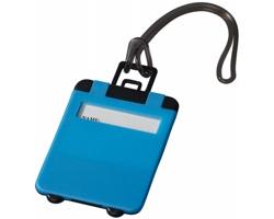 Výklopná zavazadlová visačka DONOR - neonově modrá