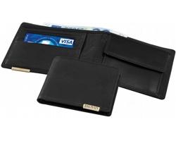 Kožená peněženka Balmain ACTA s přihrádkou na mince - černá