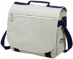 Taška přes rameno Slazenger YORK SHOULDER BAG s organizérem - šedá / námořní modrá