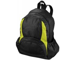 Netkaný polypropylenový batoh IMAGED s velkým hlavním prostorem - černá / světle zelená