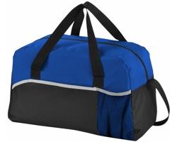 Plátěná sportovní taška DEARS s kapsou na láhev - černá / královská modrá