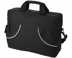 Konferenční taška SAGO s pouzdrem na telefon - černá