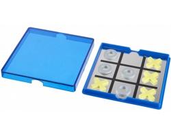 Hra magnetické piškvorky TOME v plastové krabičce - modrá / transparentní