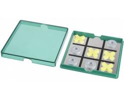 Hra magnetické piškvorky TOME v plastové krabičce - zelená / transparentní