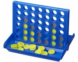 Plastová hra piškvorky AQUASCO v cestovním pouzdře - královská modrá