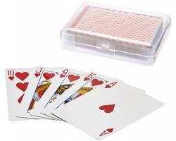 Balíček kanastových karet ASCOT v plastovém pouzdře - červená