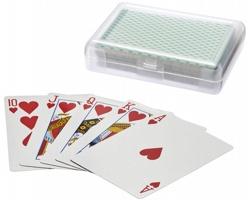 Balíček kanastových karet ASCOT v plastovém pouzdře - zelená / transparentní