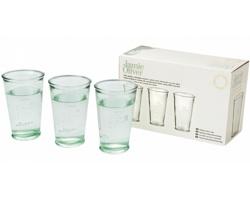 Sklenice na vodu z recyklovaného skla Jamie Oliver WATER GLASSES, 3 ks - transparentní čirá