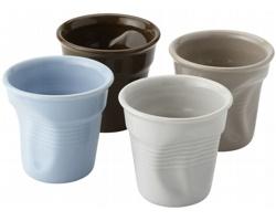 Čtyřdílná sada šálků na espresso PICOL - vícebarevné