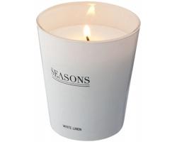 Vonná skleněná svíčka Seasons LUNAR SCENTED CANDLE v dárkové kazetě - bílá