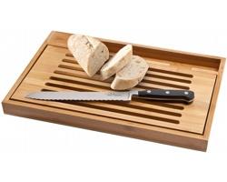 Krájecí sada na chléb bambusové krájecí prkénko Paul Bocuse BISTRO s nerezovým nožem - hnědá