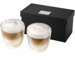 Skleněné termohrnky na kávu SINKING, 200 ml - transparentní