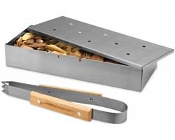 Nerezový grilovací box na dřevěné štěpky MAMMAE v dárkovém balení - stříbrná