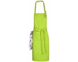 Bavlněná kuchyňská zástěra ŽANETA s přezkou kolem krku - jemně zelená