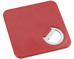 Plastový tácek CERED s integrovaným otvírákem - červená