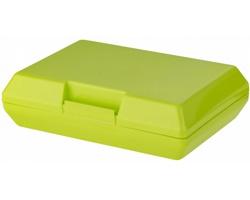 Plastová svačinová krabička SHEAR, 880 ml - jemně zelená