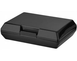 Plastová svačinová krabička SHEAR, 880 ml - černá