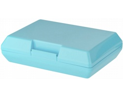 Plastová svačinová krabička SHEAR, 880 ml - modrá