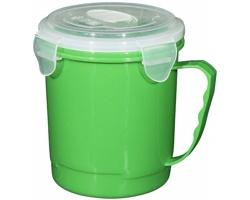 Plastová potravinová dóza SIDE s pojistným uzávěrem, 600 ml - zelená