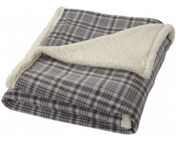 Luxusní fleecová deka Field & Co INCAS s sherpa podšívkou - šedá