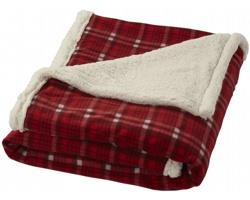 Luxusní fleecová deka Field & Co INCAS s sherpa podšívkou - červená