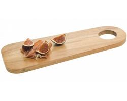Dřevěné rustikální servírovací prkénko Paul Bocuse EPACT v dárkové krabičce - hnědá
