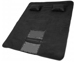 Pikniková sada deky APRIL se 2 nafukovacími polštářky - černá