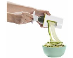 Plastový spiralizér na zeleninu LIFTS pro přípravu zdravých jídel - bílá