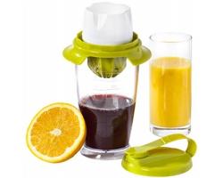 Plastový odšťavňovač COPIOUS s mixérem, 3 v 1 - bílá