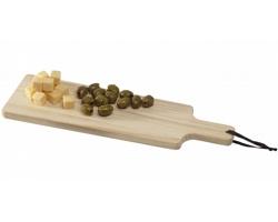 Dřevěné servírovací prkénko FORD s textilním poutkem - hnědá
