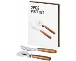 Sada nerezových nástrojů na pizzu BUNKO, 2 komponenty - hnědá