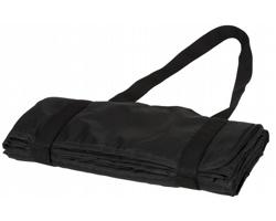 Nepromokavá pikniková deka CATHODE s ramenními popruhy - černá