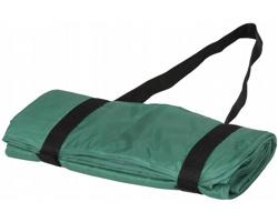 Nepromokavá pikniková deka CATHODE s ramenními popruhy - zelená