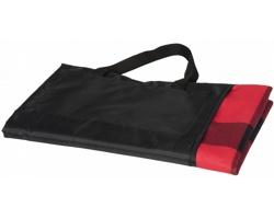 Pikniková deka PARKOAS s uchy pro snadné přenášení - červená