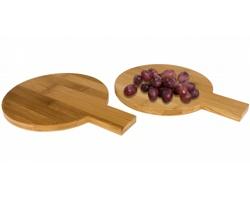 Bambusová sada tácků na servírování BEMUSED, 2 ks - hnědá