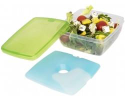 Plastová svačinová dóza MORAS s chladicí vložkou - zelená