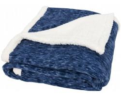 Hřejivá fleecová deka ISLE s dárkovou stuhou - námořní modrá