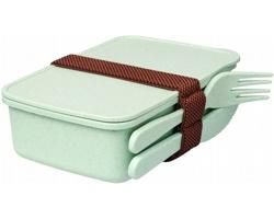 Plastová krabička na svačinu MARE s bambusovým vláknem - mintová