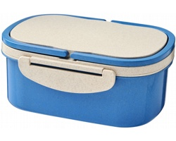 Plastová krabička na svačinu ISSEI z pšeničné slámy - modrá