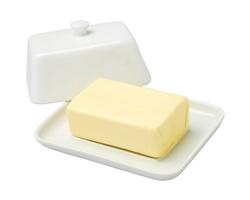 Keramická nádoba na máslo BUTTER - bílá