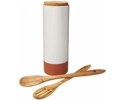Terakotová nádoba na těstoviny Jamie Oliver ACTANT s dřevěnými vařečkami - oranžová / hnědá