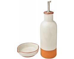 Sada terakotové nádoby na olej a misky na dipy Jamie Oliver SPUTA - oranžová