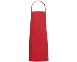 Bavlněná dětská zástěra TAXY s přední kapsou - červená