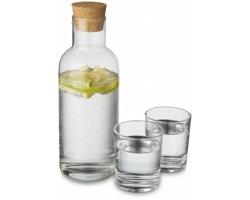 Skleněná karafa WHIRS se 2 sklenicemi, 1 l - transparentní čirá