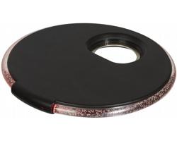 Plastový podtácek TOLA s LED světlem - černá