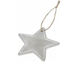 Cementová vánoční ozdoba GULFY ve tvaru hvězdy - šedá