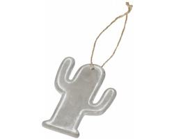 Keramická ozdoba DOTE ve tvaru kaktusu - šedá