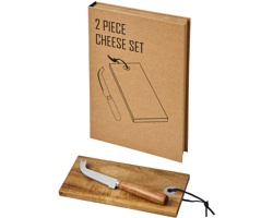 Sada potřeb na sýr LIAS, 2 ks - přírodní